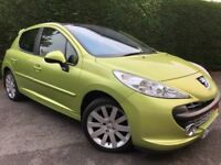 Fabulous Peugeot 207 GT 1.6 110bhp 5dr, 1 owner, full service history , 79, 511 miles