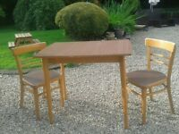 table and chairs vintage 50s-60s