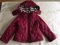Girls Burberry quilted jacket Age 4 great condition