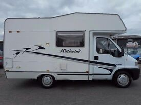 Lovingly Looked after Peugeot Boxer 4 Berth Motorhome with popular layout and only 56000 miles....