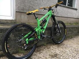 Mountain bike. Downhill