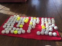 75 mixed golf balls used