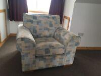 Large comfy armchair