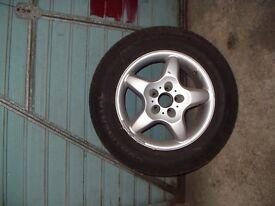 Mercedes ML270 275/55R17 wheel & tyre