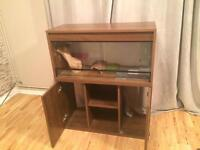 3ft Vivarium with cabinet + extras