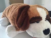 Huge cuddly dog cushion