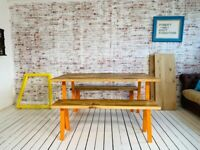 Dining Table Industrial Open Frame / Bench Sets - Any RAL Colour Powder Coating!