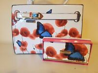 NEW - White Butterfly Ted Baker Handbag and Purse Set