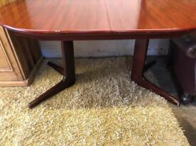 Vintage Midcentury style extending dining table