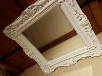 Shabby chic white mirror