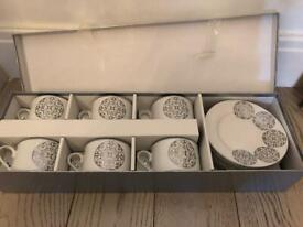 Sia Set of 6 Tea Cups and Saucers