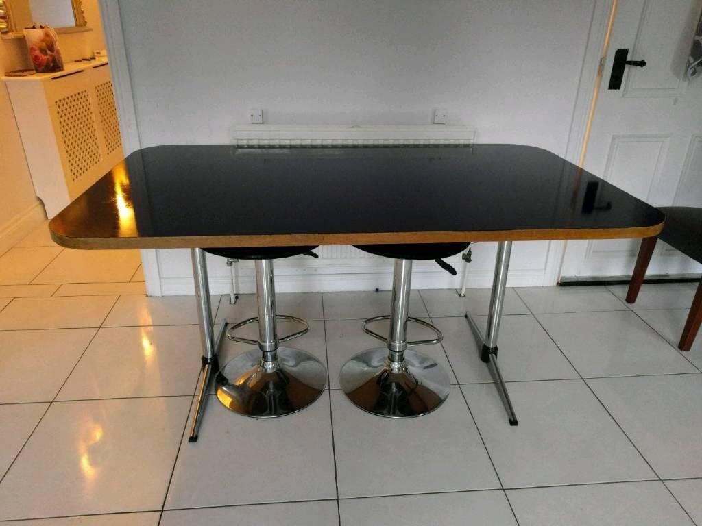 Family size navy kitchen table