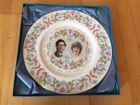 Royal wedding plate