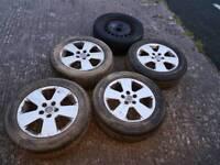 Vauxhall vectra alloy wheels