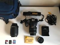 NikonD5100w/all accesories|2 Lenses+3SD cards+ camera-bag+charger+ more...READY2TAKEAMAZINGPHOTOS!
