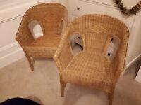 Wicker Chairs (Pair)