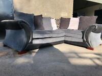 Grey dfs corner sofa, couch, suite, furniture 🚛🚚