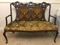 2 seater sofa antique chair shabby chic carved project queen Ann legs