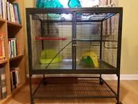 Rat/ferret/chinchilla cage + toys