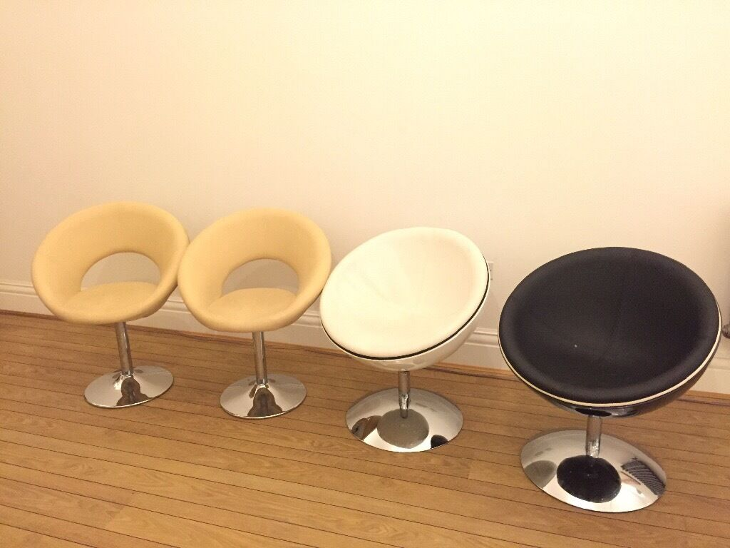 Kokoon sphere and retro circle chairs (set of 4)
