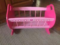 Dolls wooden cradle/cot