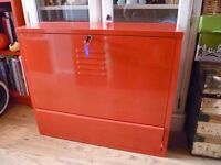 IKEA PS RED METAL WALL DESK