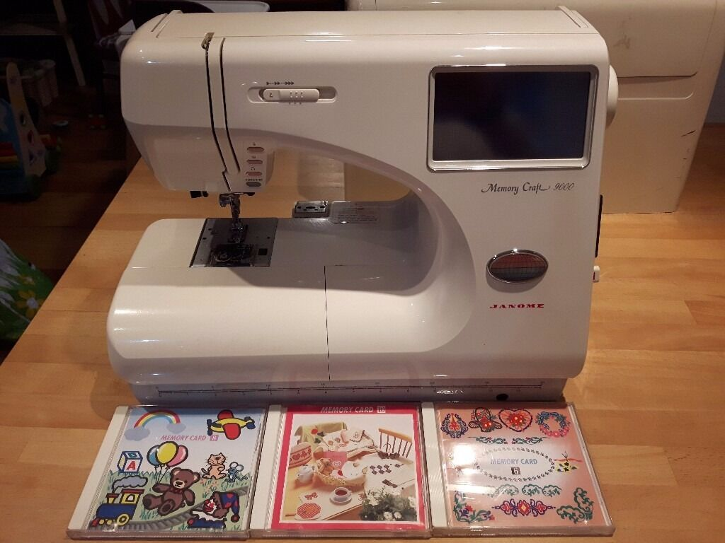 Janome memory craft 9000 - Janome Memory Craft 9000 Sewing Machine Excellent Condition