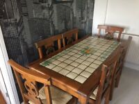 Ponsford's Mexican pine dining table and 6 chairs