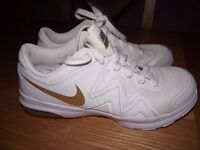 Brand new Nike gold/white trainers size uk 6
