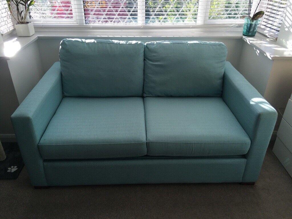 Furniture Village Duck Egg Blue Sofa Bed Dereham In
