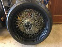 DNA 120 Spoke 18 x 8.5 rear wheel and tyre (Avon Cobra)