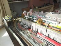 00 gauge train set layout, compatible with hornby and any other makes.