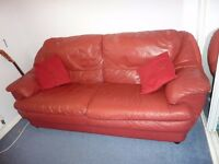 Leather sofa (Red) 3 seater