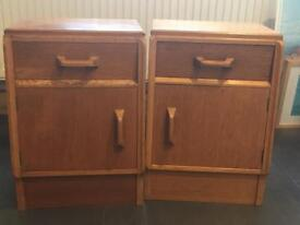 A pair of E gomme Brandon G plan retro bedside cabinets