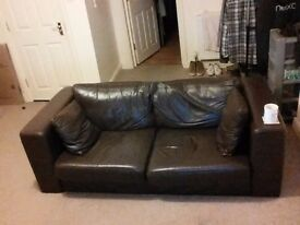 Leather sofa for sale (collection only)