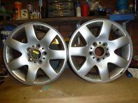 bmw e46 alloy wheels x2