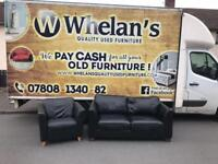 black leather arm chair £55 ( sofa sold )