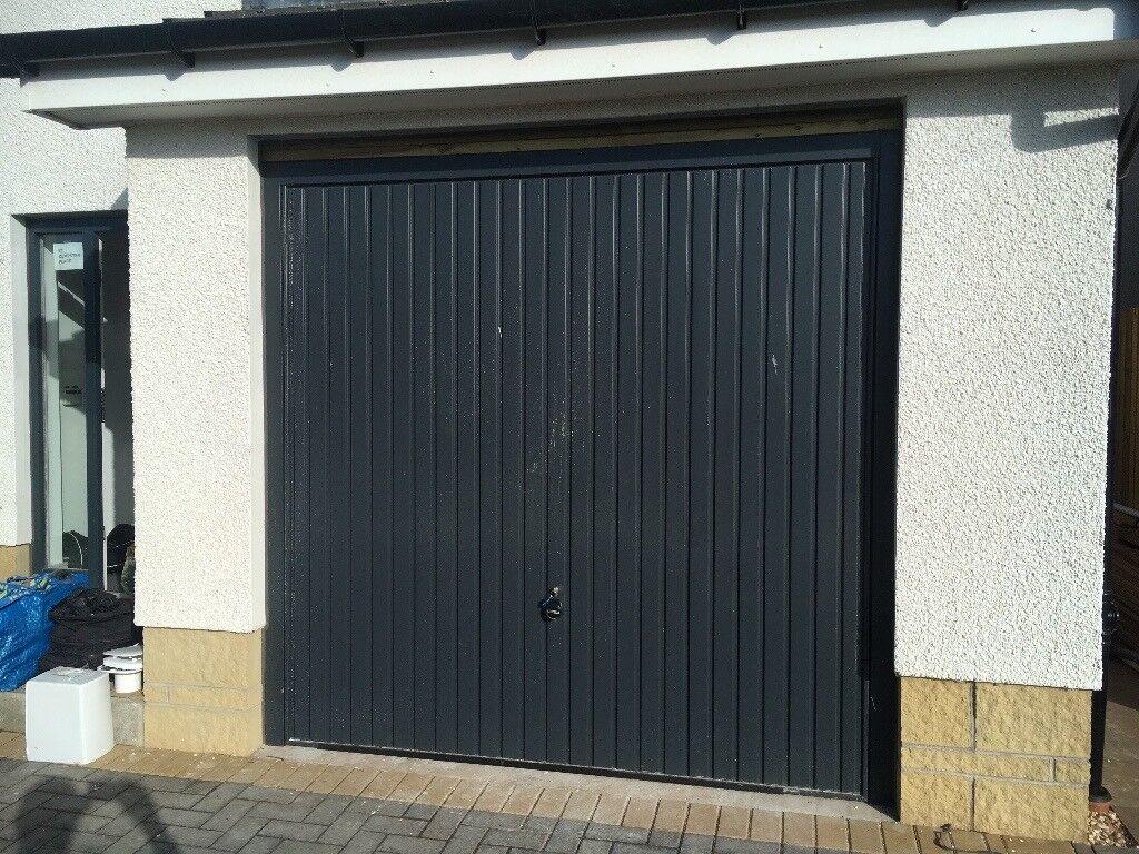 Single garage door 2 3m w x 2 2m anthracite grey only 6 months