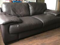 Italian brown leather sofas