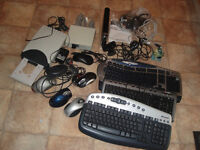 Computer accessories,keyboards,web cams,Data transfer switch box/ adapters,Memorex cd/dvd player etc