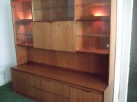 FREE for uplift - Exc Large quality Wall/Cocktail/Bookcase units with lights