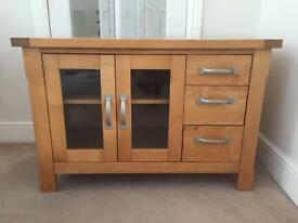 Solid Wood TV Cabinet with Drawers
