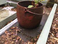 """cast iron cauldron large 15""""x15"""""""