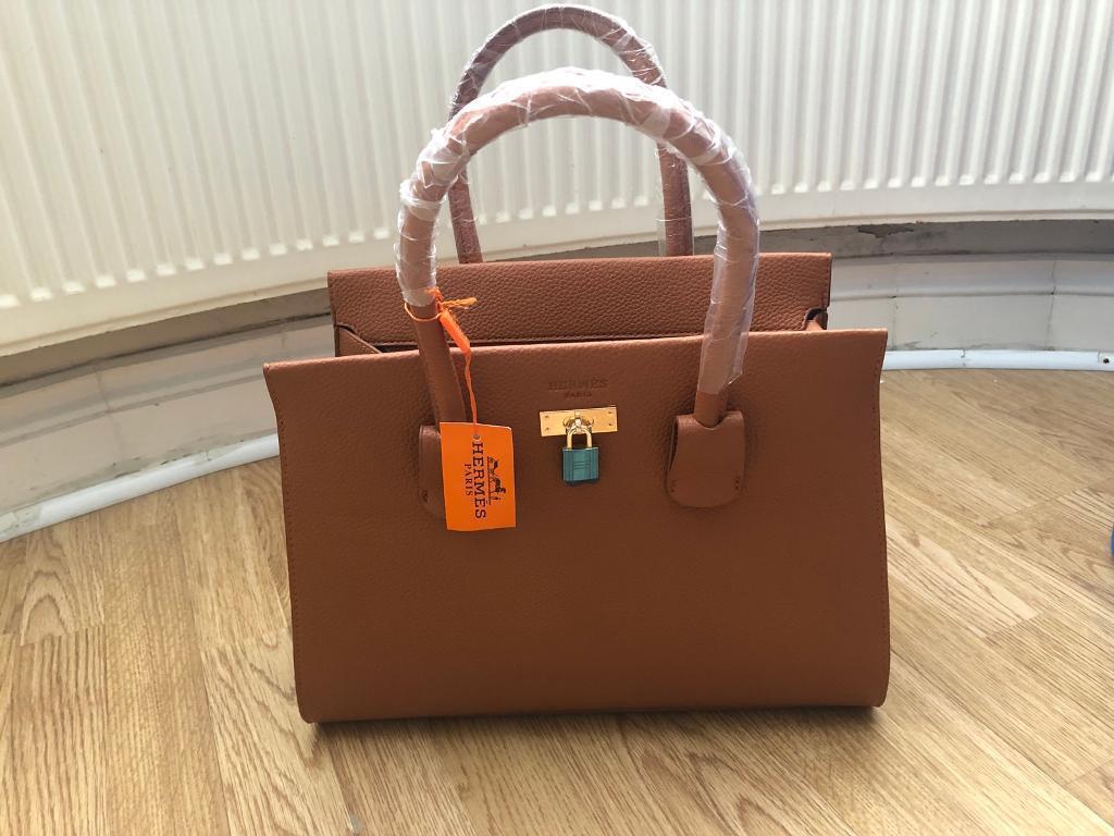 Hermes Bag Brown Tan Leather