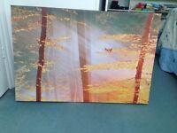 framed canvas painting size L 90cm * w 60 cm 15 pounds each .