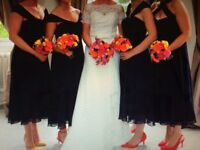 Four stunning monsoon navy size 10 and 12 dresses