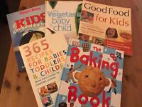 Baby toddler child cook baking book bundle