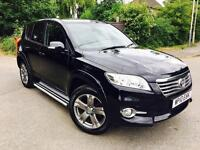 2010 Toyota RAV4 Automatic diesel LEATHER SAT NAV SIDE STE S KEYLESS GO like hilux landcruiser lexus