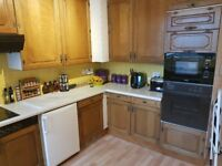 Solid wood kitchen units for sale.