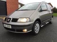 JANUARY 2007 SEAT ALHAMBRA REFERENCE 2.0 TDI 6 SPEED 7 SEATER ONLY 112,000 MILES LONG MOT